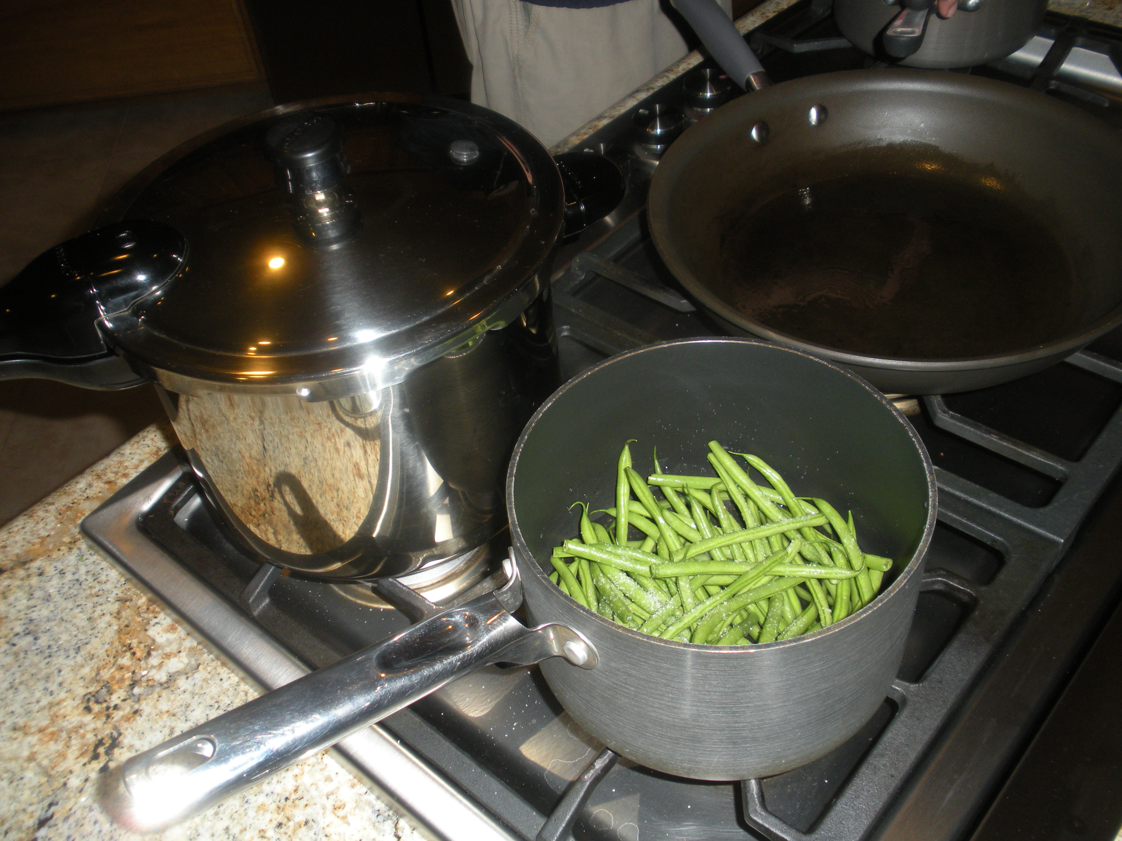 how to cook french green beans on the stove