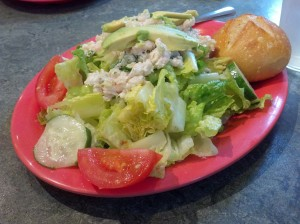 Salad with shrimp from Le Boulanger