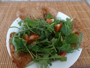 Kale salad with bolani