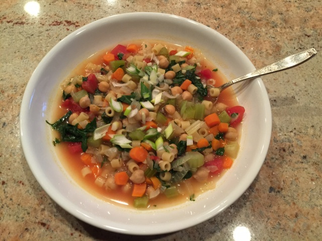 Chickpea and vegetable soup/stew