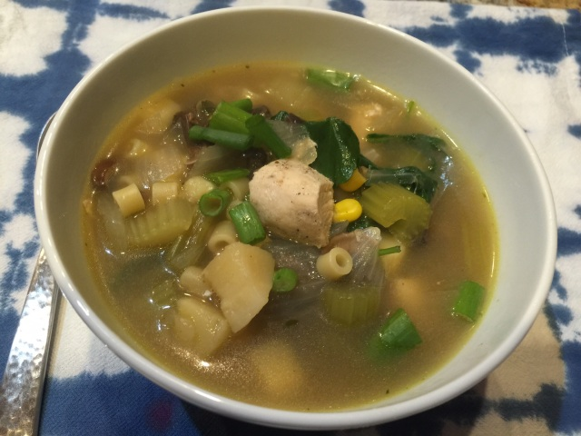 Chicken leftover soup