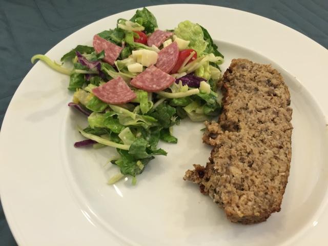 Turkey meatloaf with Italian salad