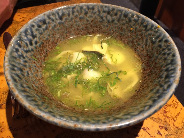 Hot and sour sablefish soup