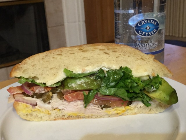 Giant sandwich half before I relieved it if some of its components