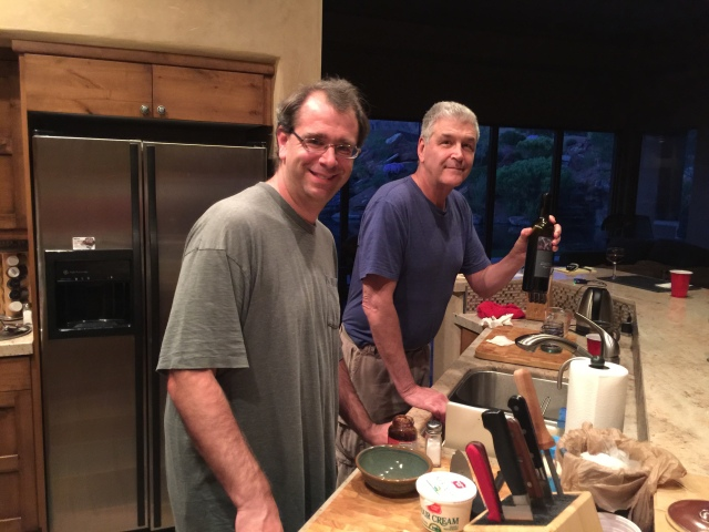 Jon and John in the kitchen
