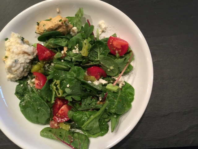 Salad with leftovers