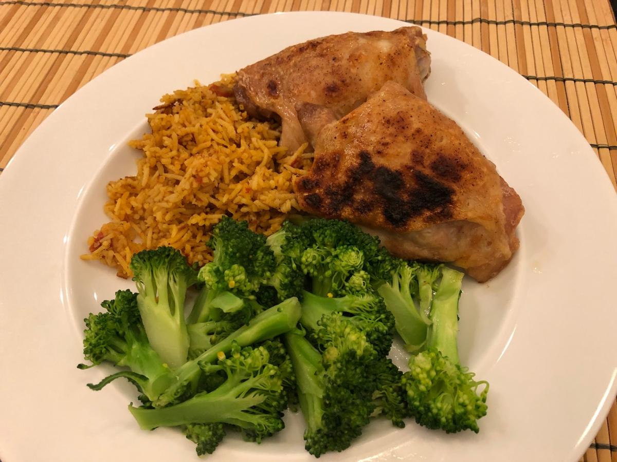Roasted Chicken Thighs, Rice, Broccoli 32219  Omnivore-6739